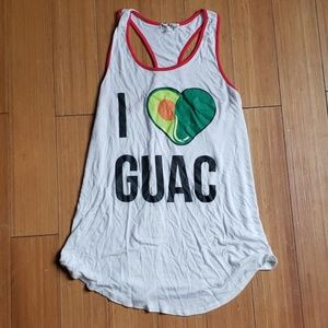 I Love Guac tank. XS. Cute for Mexican food lovers